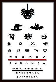 Halloween optometry eyechart