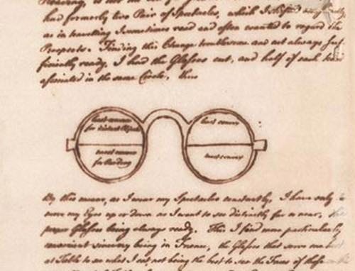 A document showing how old bifocals were designed.