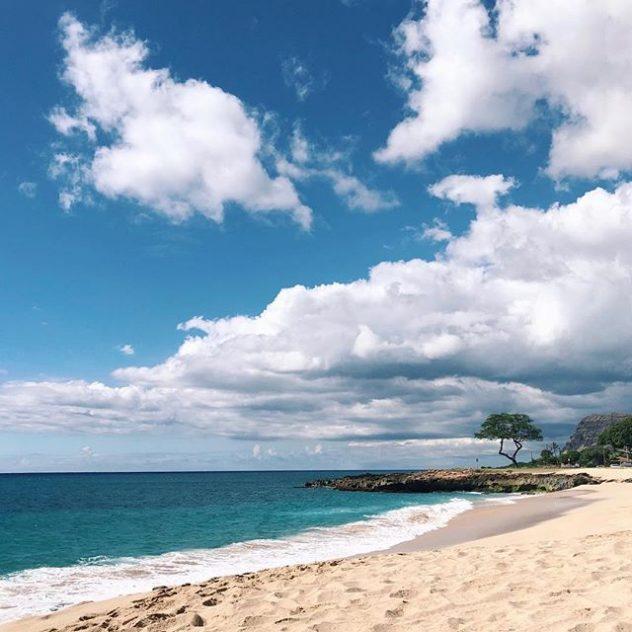 A photograph of the ocean