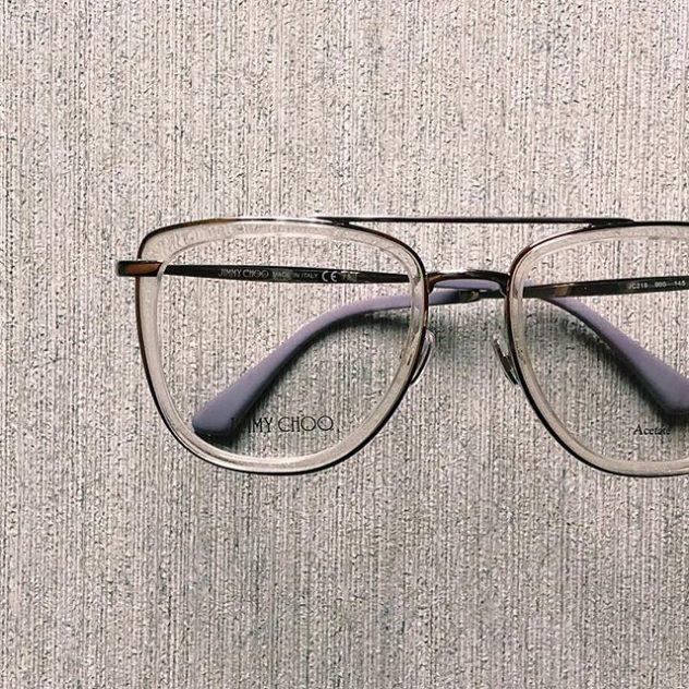 Photograph of Jimmy Choo eyeglasses