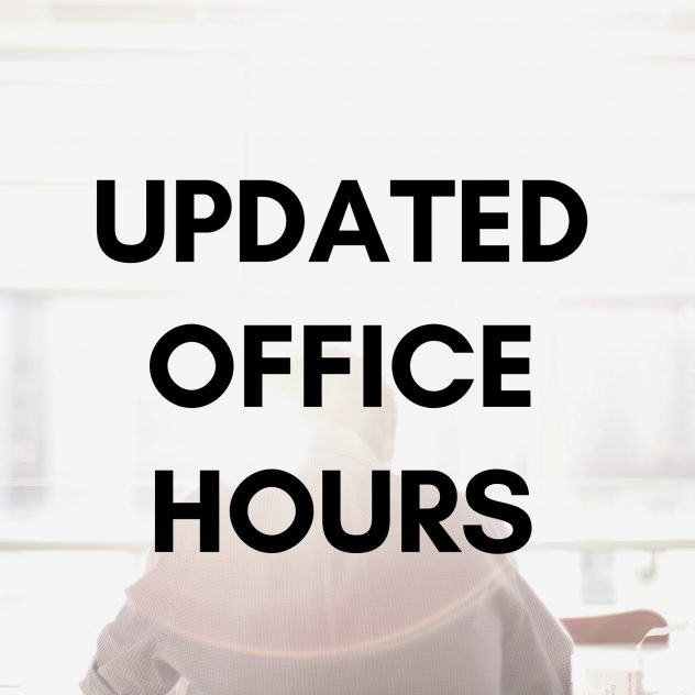 Updated office hours